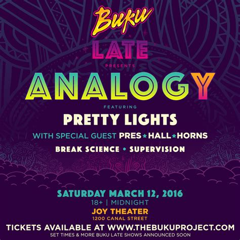 Buku Breaking The Time buku late analog y ft pretty lights and other special guests