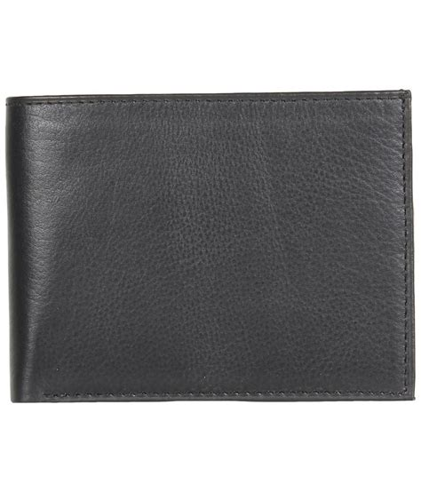 Lutece Casual Wallet 173 Black leather wallets clearance sale