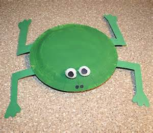 Frog Craft Paper Plate - preschool crafts for easy paper plate frog crafts