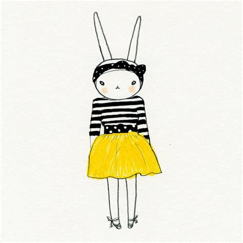 Fifilapin Big Size Tshirt fifi lapin fifi in the yellow skirt with the striped shirt and polka dot accessories