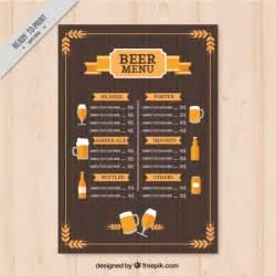 Vintage Menu Template by Vintage Beers Menu Template Vector Free