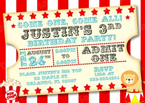circus invitation template 40th birthday ideas carnival birthday invitation template
