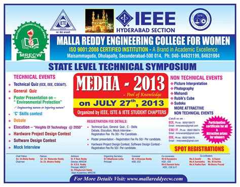 themes for college technical fest medha 2013 poster link http mallareddyecw com pdfs