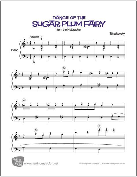 tutorial dance of the sugar plum fairy partition piano tchaikovsky dance of the sugar plum fairy