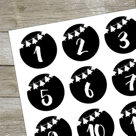 Aufkleber Zahlen Bestellen by Aufkleber Adventskalender Zahlen 1 24 Girlande Schwarz