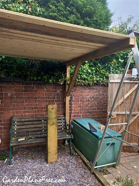 diy  post cantilevered pergola  garden plans