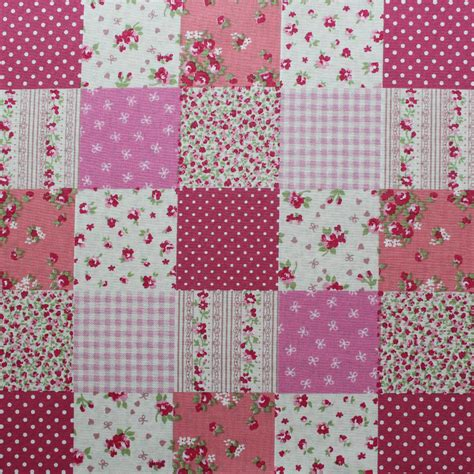 Pink Patchwork - patchwork pink overdale fabrics