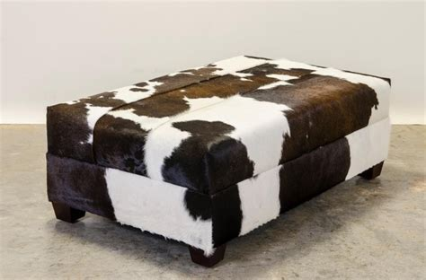 hair on hide ottoman hair on hide leather ottoman our furniture pinterest