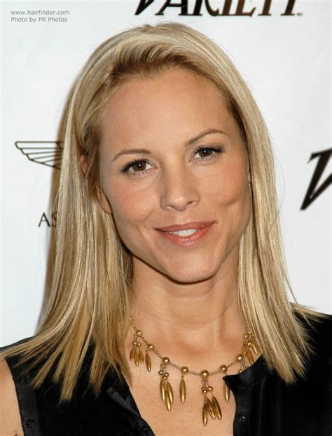 shoulder grazing hair maria bello s shoulder grazing hair an ideal hairstyle