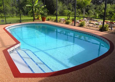 residential swimming pool rubber deck pool ta by