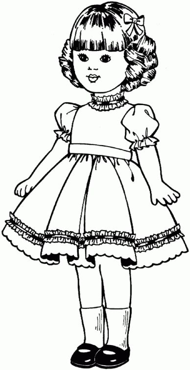 girl paper doll coloring pages