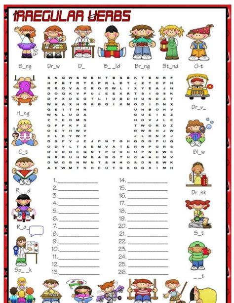 Diskon Puzzle Edukasi Match It Verb irregular verbs crosswords