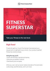 Free Newsletter Templates Html Email Templates Getresponse Free Fitness Newsletter Templates