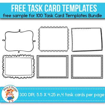 blank task cards template best 20 card templates printable ideas on