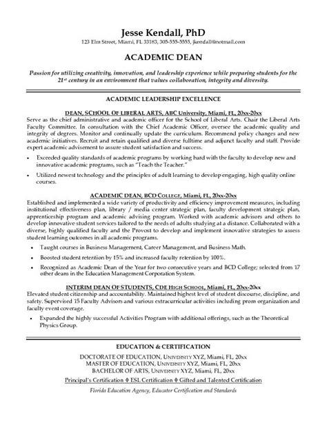 Academic Resume Objective by Academic Cv