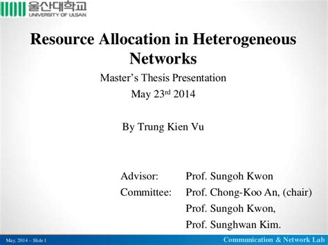 Resource Allocation In Heterogeneous Networks Thesis Presentation Ppt