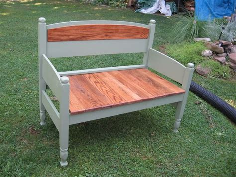 bench that turns into a bed a bed headboard turned into a bench up cycling pinterest