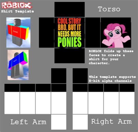 Cool Story Bro But It Needs More Ponies By Ashpokeman On Deviantart Roblox Shirt Template 2017
