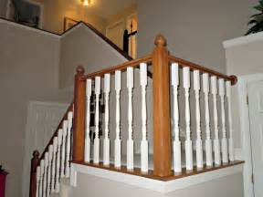 Stair Banister Pictures Remodelaholic Diy Stair Banister Makeover Using Gel Stain