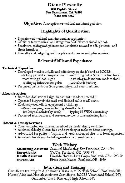 medical receptionist resume objective examples archives ppyr us
