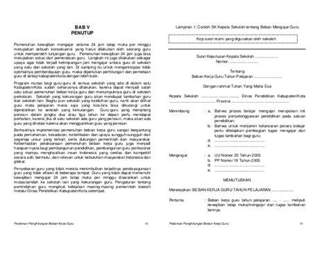 format analisis beban kerja pedoman penghitungan beban kerja guru