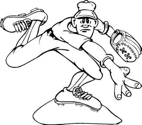 baseball coloring pages free printable pictures coloring