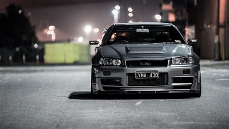 nissan skyline r34 wallpaper silver nissan skyline gtr r34 wallpapers cool stuff