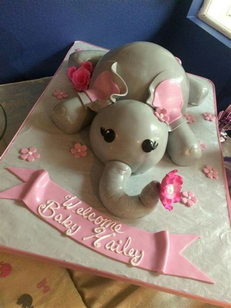 Pink And Gray Elephant Baby Shower Decorations by Pink And Grey Elephant Baby Shower Cake Our Alessi
