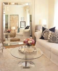 venetian beaded mirror transitional living room