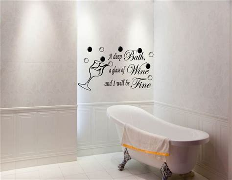 bathroom wall appliques bath wine be fine bathroom ensuite vinyl art wall