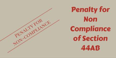 section 271b section 44ab penalty for non compliance