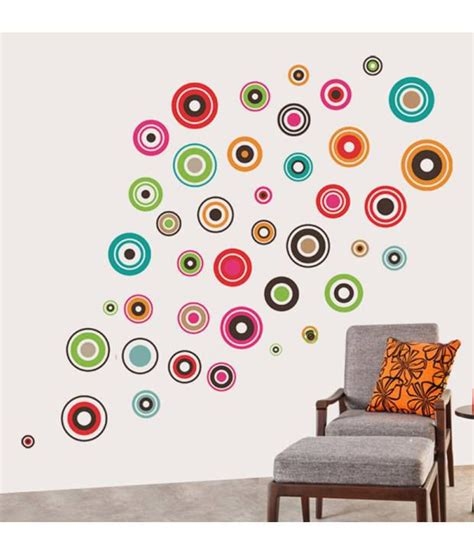 Wall Sticker Ay9006 60x90 stickerskart wall stickers colorful polka motifs 6918 60x90 cms buy stickerskart wall