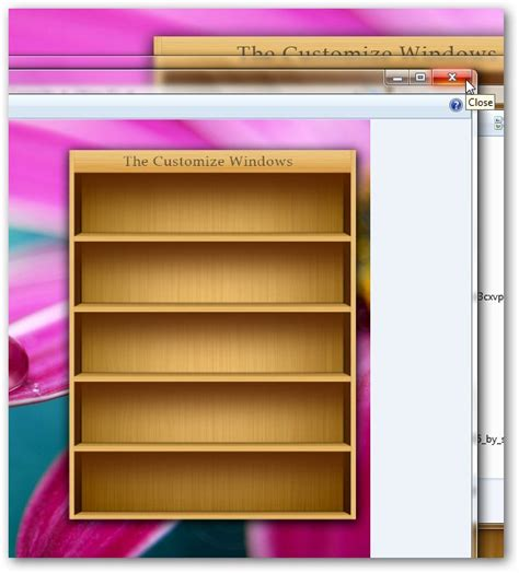 how you use bookshelf like to place icons in windows
