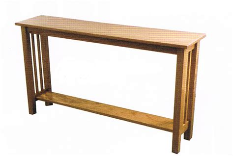 mission style sofa table products ohio hardwood furniture
