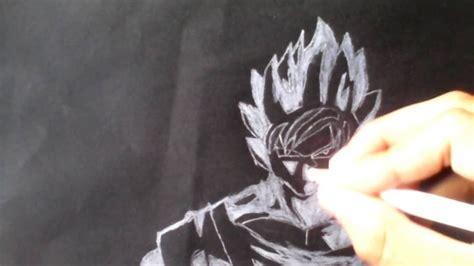 imagenes goku blanco y negro dibujando a goku ssj en blanco y negro d youtube