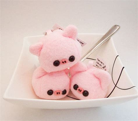 Desa Boneka Pig Keychain Pink baby pork pig cube plushie keychain kawaii stuffed by