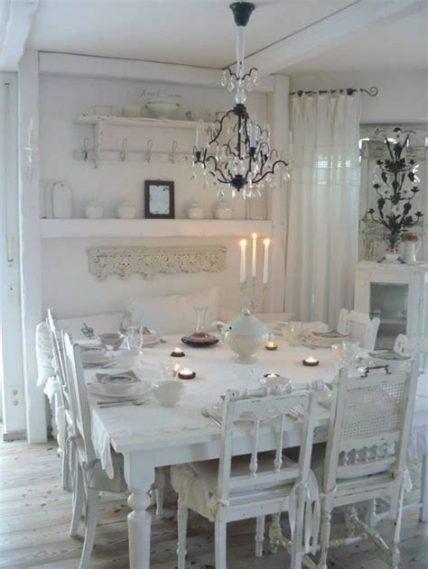 shabby chic dining rooms 33 inviting and cute vintage dining rooms and zones digsdigs