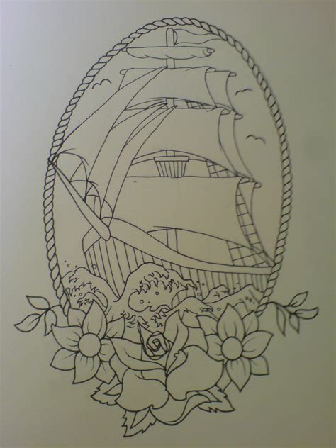 tallship tattoo design paul taylor flickr