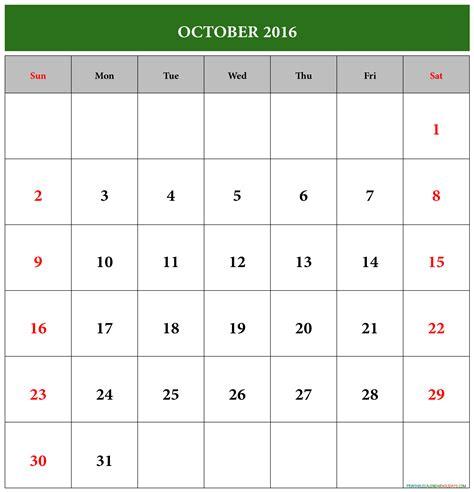 printable calendar october 2016 october calendar 2016 printable free printable 2017