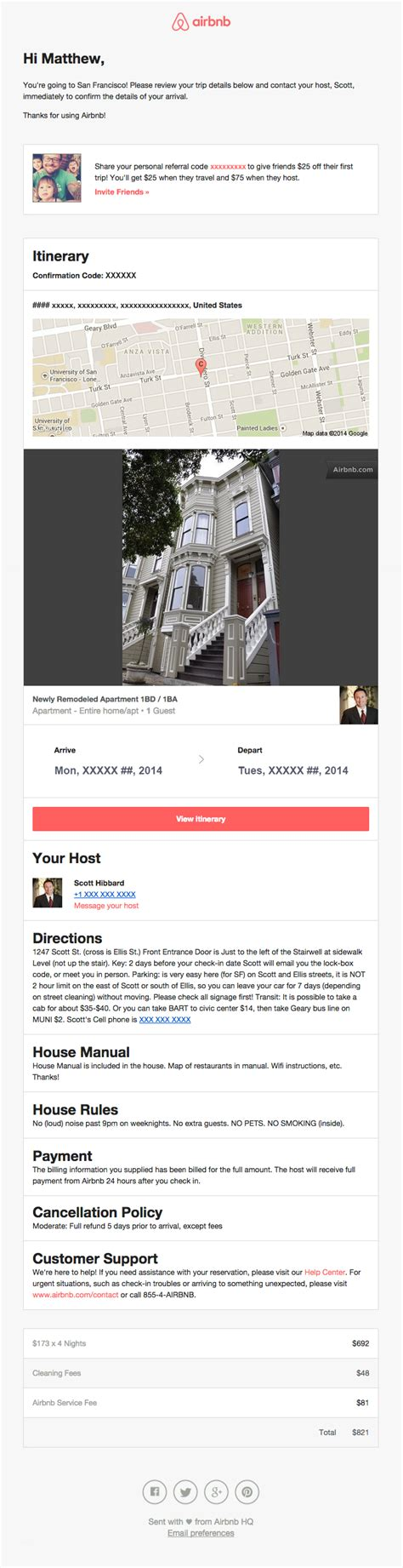 airbnb email reservation confirmation email from airbnb really good