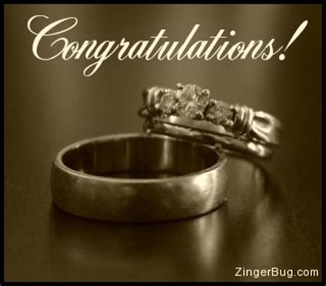 Wedding Ring Congratulations by Congratulations Wedding Rings Glitter Graphic Greeting