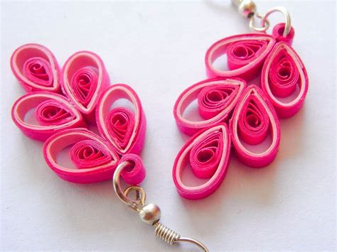ooak button paper quilled earrings 26 00 via