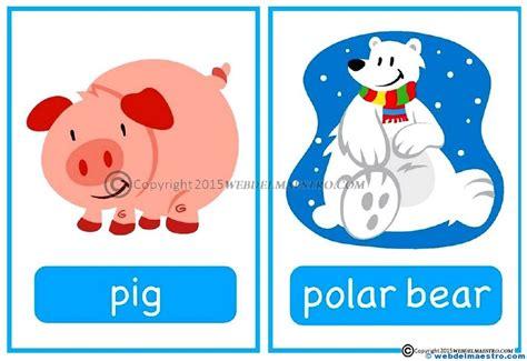 en imágenes en inglés animales en ingl 233 s web del maestro
