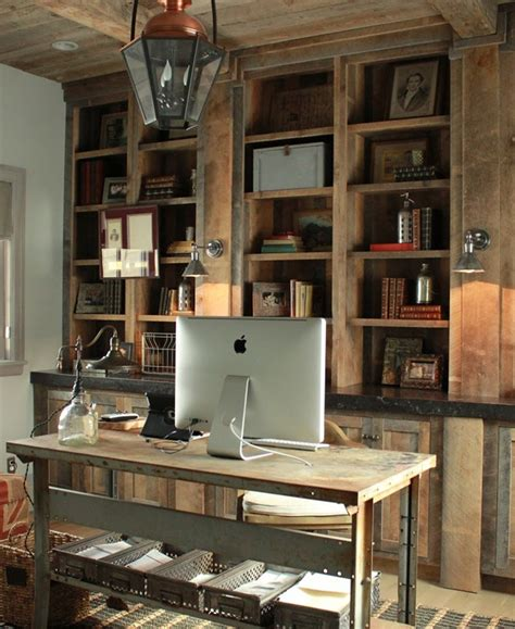 office home 42 awesome rustic home office designs digsdigs