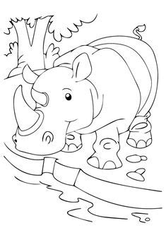 10 Cute Free Printable Rhino Coloring Pages Online | Zoo