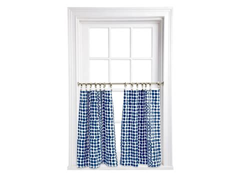 Kitchen Ideas Hgtv how to make a cafe curtain from cloth napkins hgtv