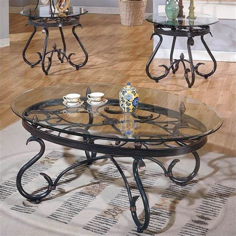 steve silver company lola 3 coffee table set in