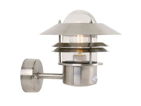 Outdoor Lighting With Sensors Galvanized White Motion Sensor Outdoor Wall Mounted Lighting Ideas