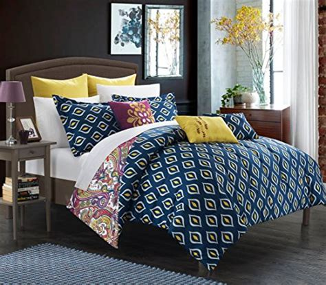Luxury Bed In A Bag Sets Chic Home Mumbai 8 Reversible Comforter Set Printed Luxury Bed In A Bag King A Luxury