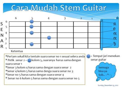 cara membuat gantungan kunci gitar cara stem gitar lirikdankunci com